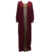 Tilapia New Kaftan Style Women Dress Maxi Long Vintage Gowns Plus Size Summer Autumn Jurken Loose