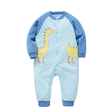 Top sale cute design animal motifs baby boy clothes winter knitted romper