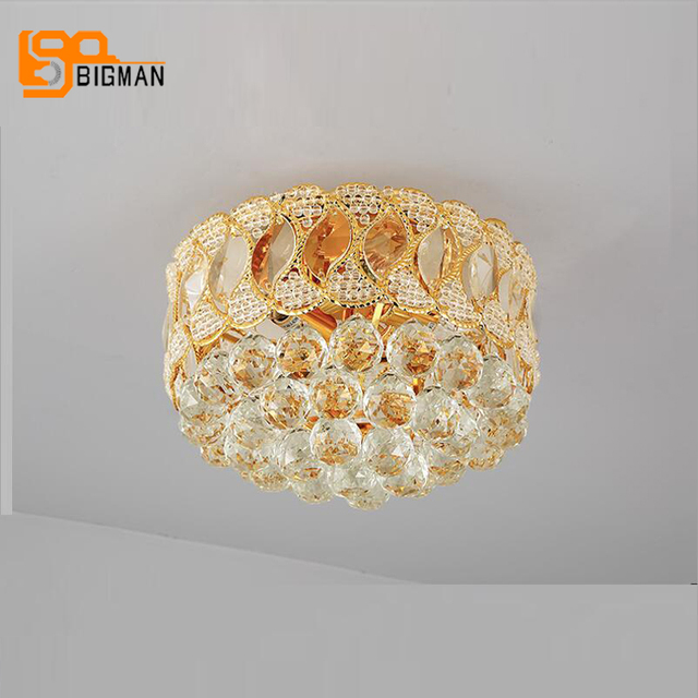 modern hallway lighting led gold crystal ceiling lamps modern plafon dia30h20cm hallway lighting bedroom led light fixtures aliexpresscom buy dia30