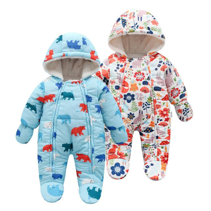 Baby Winter Clothes Tiny Cotton Hooded Romper Newborn Clothes