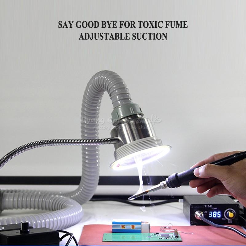 Купить с кэшбэком TBK smoke exhauster instrument for mobile phone maintenance fume extractor