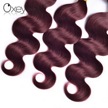 Oxeye girl Burgundy Brazilian Hair Weave Bundles Body Wave Human Hair