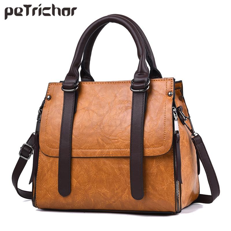 Vintage Designer Handbag Women High Quality Lether Tote shoulder Messenger Bag Female Brand Ladies Crossbody Bags With Zipper