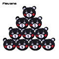 Anime Japan Mascot Kumamon Bear Mini Plush Toys with kechain Soft Stuffed Animal Pendant Dolls 10pcs/lot 6.5cm