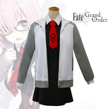 Fate Stay Night Dresses Costumes Cosplay Mash Kyrielight Matthew Costume Coat Wig Set