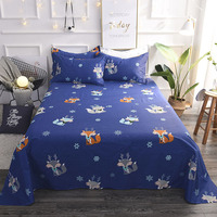 2018 New fashion bed sheets bedding sets 3pcs set bed sheet pillow cases twin queen king 22 color options #/