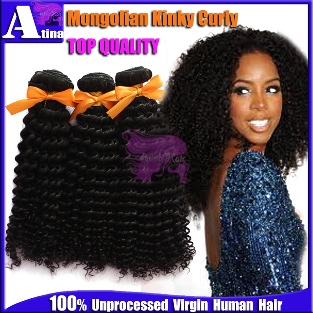 Grade 7a Top Quality Mongolian Kinky Curly Hair Full Cuticle Afro