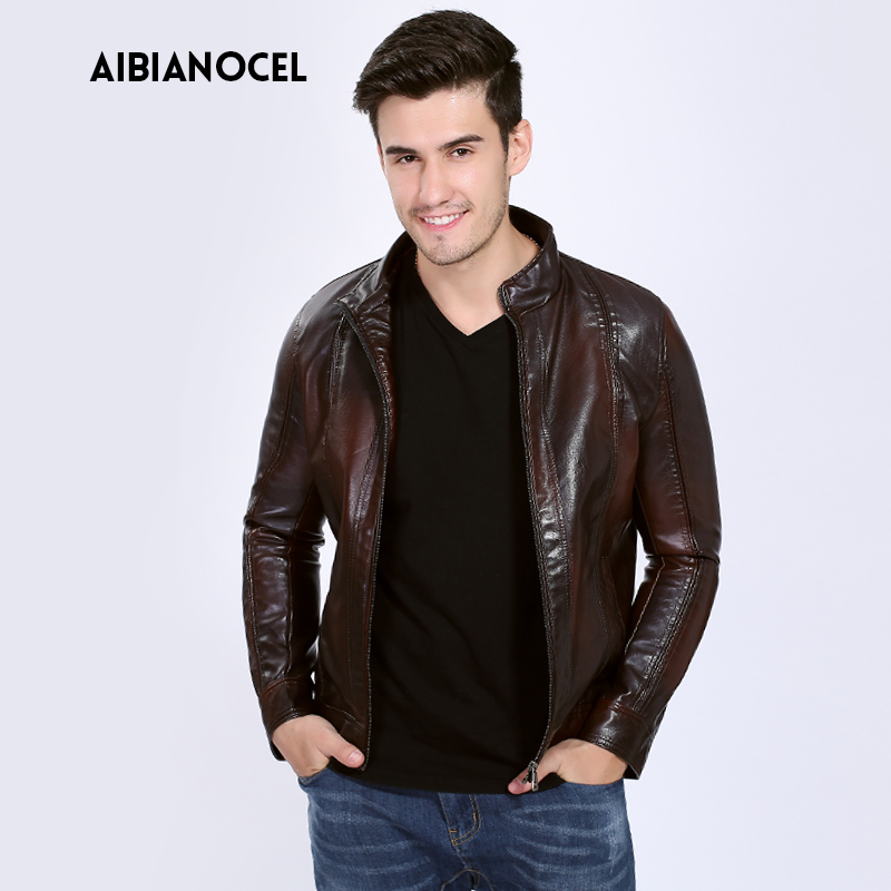 Male Clothing Faux Leather Coats Faux Leather Jacket Men High Quality Warm Windbreak PU Jackets Leather Motorcycle S-6XL 3 Color