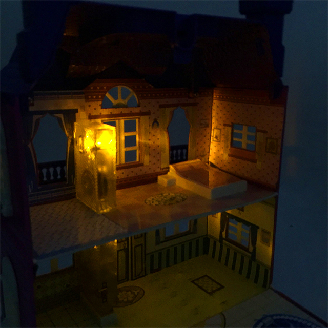 Doll House with Music And LED Lamp