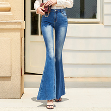 Free Shipping 2019 Fashion Long Jeans Pants For Women Flare Trousers Plus Size 24-30 Size Denim Blue Stretch Summer Thin Jeans 2016 summer brand mens jeans shorts plus size black blue stretch thin denim jeans short for men pants free shipping page 1