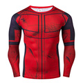 Marvel Deadpool Costume Mens Long Sleeve T-shirt DC Comics Compression Slim Fitness Cosplay 3D Printed Tops For Hallowmas