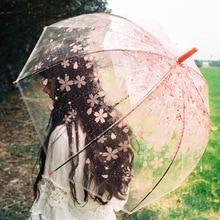 SAFEBET Сакура прозрачный зонтик полуавтоматический детские зонтики Apollo милые длинная ручка с зонтиком дождь зонты для девочек