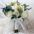 Flor Artificial de La Boda Ramo de Novia Dama de Honor Ramo de La Boda Ramo Hecho A Mano bruids boeket buque de noivas boda ramo