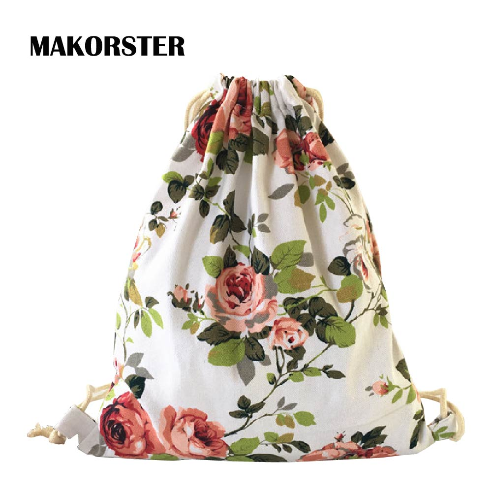 MAKORSTER 2017 women backpacks printing backpack mochila rucksack fashion canvas bags retro casual school bag travel bags MK249 13 laptop backpack bag school travel national style waterproof canvas computer backpacks bags unique 13 15 women retro bags