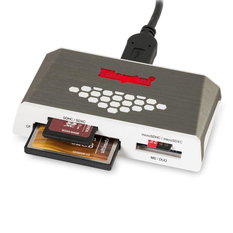 Kingston FCR-HS4 tarjeta Micro SD lector USB 3,0 de todo-en-uno externa CF TF lector de tarjeta Microsd USB 2,0 Mulfunsctional adaptador USB - 3