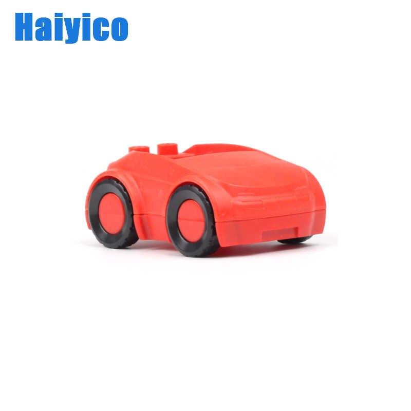 交通ビッグビルディングブロック車アクセサリー互換 duplos 輸送挿入車モデル組立教育子供のおもちゃ