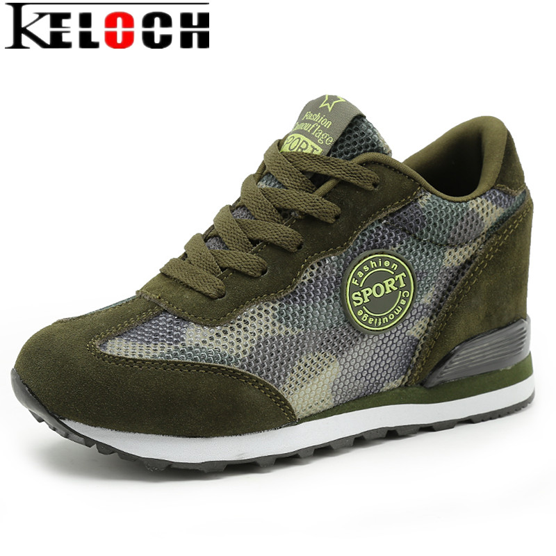 Keloch Camouflage Mesh Women Boots 2017 New Summer Breathable Platform Shoes Woman Creepers High Heel Ankle Boots Casual botas women creepers shoes 2015 summer breathable white gauze hollow platform shoes women fashion sandals x525 50