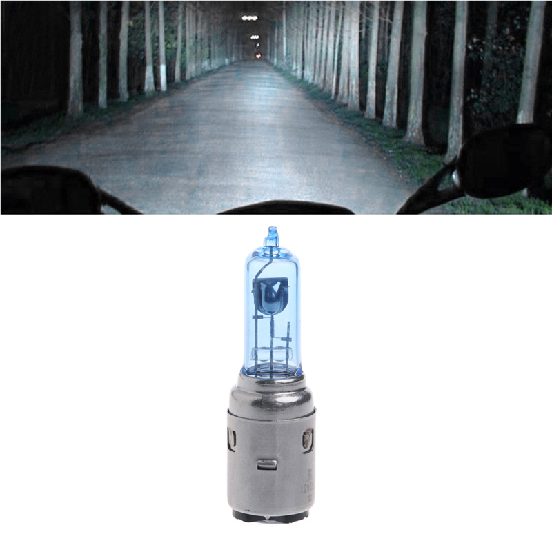 Motorcycle DC 12V 35W BA20D Headlight Halogen Bulb Xenon White Light Motorcycle font b Accessories b