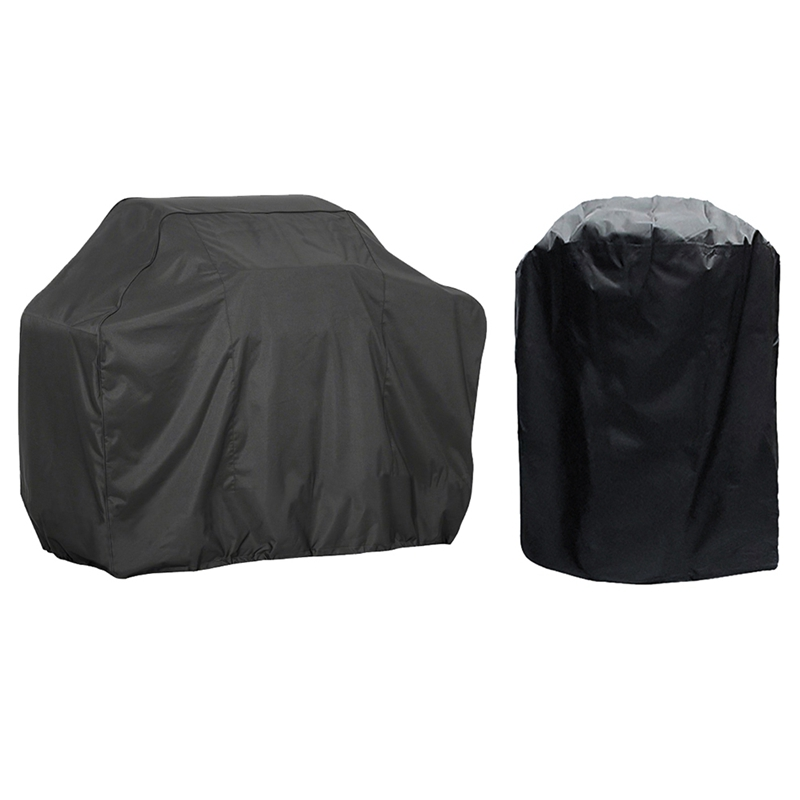 HTB1wHIvaOLxK1Rjy0Ffq6zYdVXaU - Black Waterproof BBQ Cover Accessories Grill Cover
