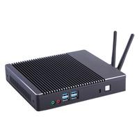 Linux Desktop Computer Mini PC Rs232 COM Intel Dual Core I3 Fanless Mini Pc WIFI HTPC Pocket Desktop