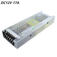 Best quality DC 12V 17A Switching Power Supply AC100 265V Input led Driver Voltage Transformer for LED Strip Light Display 220V