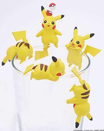 5pcs/lot Japan Cute Pikachu PUTITTO Figma tea bag clip hanging mug cup clip bag hold tea accessories Action FigureAction & Toy Figures