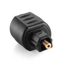 Nova quente óptico 3.5mm fêmea mini jack plug para digital toslink adaptador de áudio masculino