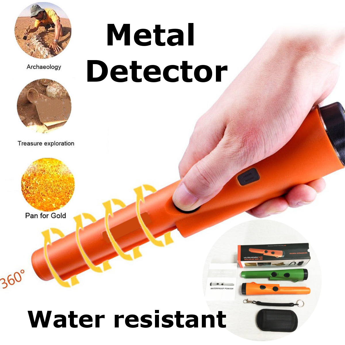 Metal Detector Gold Detector LED Pinpointer Pin Pointer Automatic Treasure Hunting Pinpointer Detector Tester Waterproof underground metal detector pinpointer gold detector treasure hunter buzzer vibrate mini pin pointer led indicators belt holster