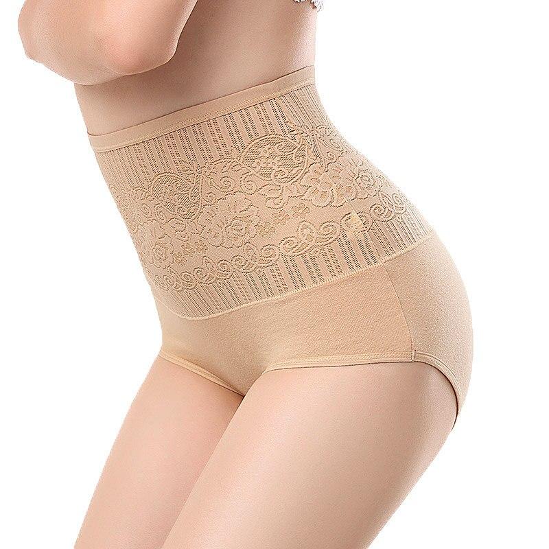 Woman sexy Lingerie jacquard cotton underwear briefs postpartum Tighten abdominal hips waist seamless   Panties