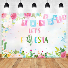 Fiesta Backdrop for Photography Birthday Theme Party Photo Background Flower Banner Backgrounds Studio Photocall