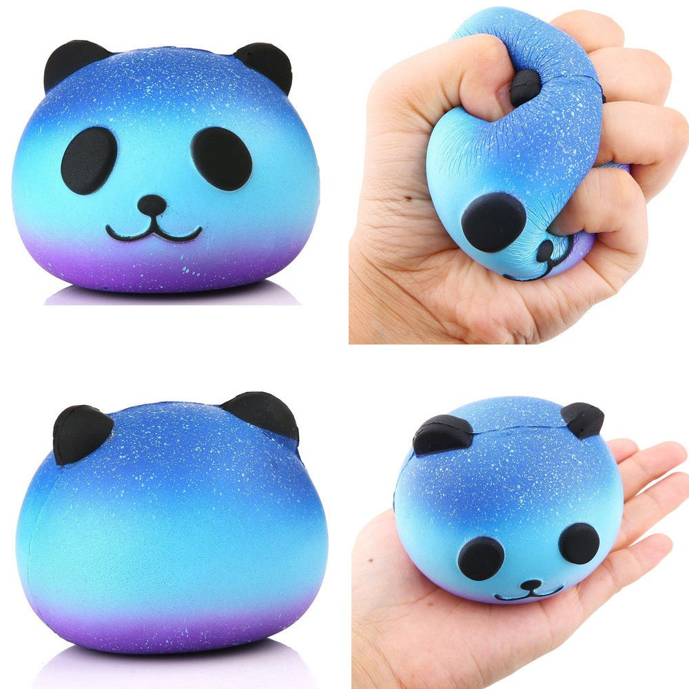 9cm Cute Squishy Toys Galaxy Panda Peach Banana Tooth Cake Squishes Slow Rising Jumbo Kawaii ...