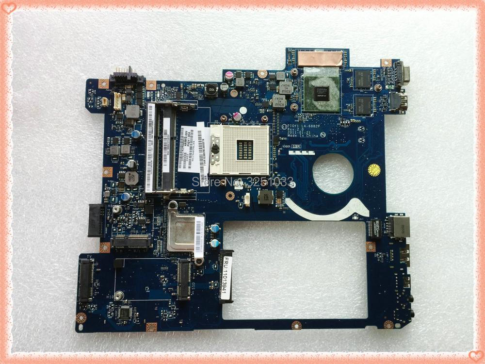 PIQY1 LA-6882P for lenovo Y570 Notebook Y570 Laptop Motherboard LA-6882P Notebook HM65 PGA989 DDR3 100% Tested brand new for lenovo ideapad y570 laptop motherboard piqy1 la 6882p with nvidia gt550m 2gb on board video card