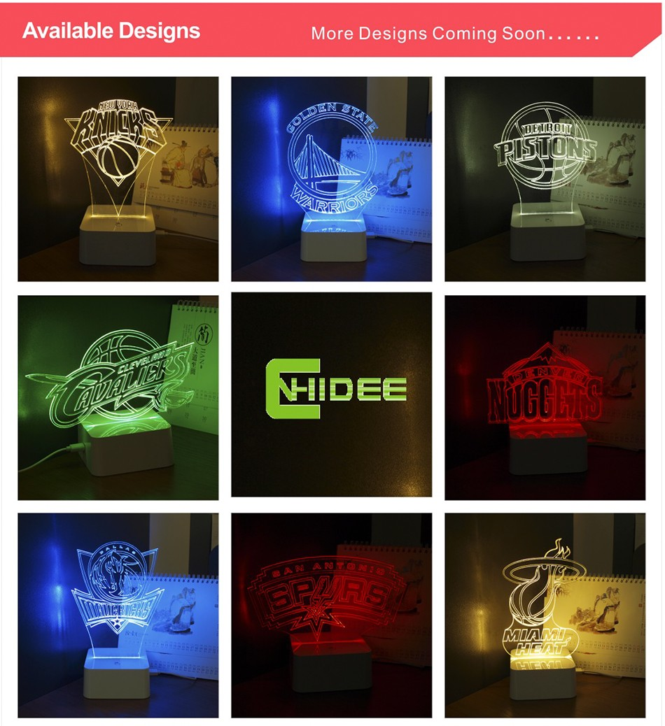 USB Novelty 3D LED Night Lights for Basketball Team Touch Dimmable Table Desk Lamp as Home Decor (9)