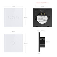 Touch Screen Sensor LED light Switch 220V LED Dimmer Switch Waterproof EU UK Standard Power Wall Touch Switch RF Remote Control