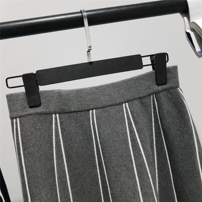 HTB1wHJyOVXXXXblapXXq6xXFXXXM - FREE SHIPPING Womens Skirt Vintage  Line Striped Slim High Waist Knitted Long Black Grey JKP248