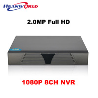 CCTV DVR 8CH 1080P Full HD 2MP NVR 8CH ONVIF Support 4T SATA HDD Network Video