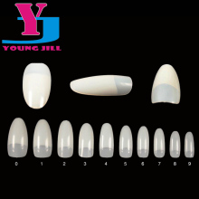 Nail Art Tips Natural White Round End Oval False Nails Long French Fake Nails Tips Salon UV Gel Manicure Set Beauty