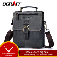OGRAFF Men Bag Man Hand Bags Genuine Leather Shoulder Bag Small Leather Handbags Crossbody Messenger Bag Men Leather Tote Crazy