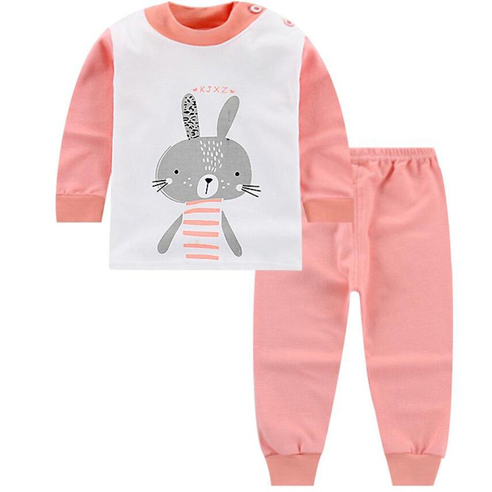 335980e07b22 Baby girl set conjunto recién nacido Bebé Ropa de manga larga pijamas niños  niño niña invierno ropa de dormir