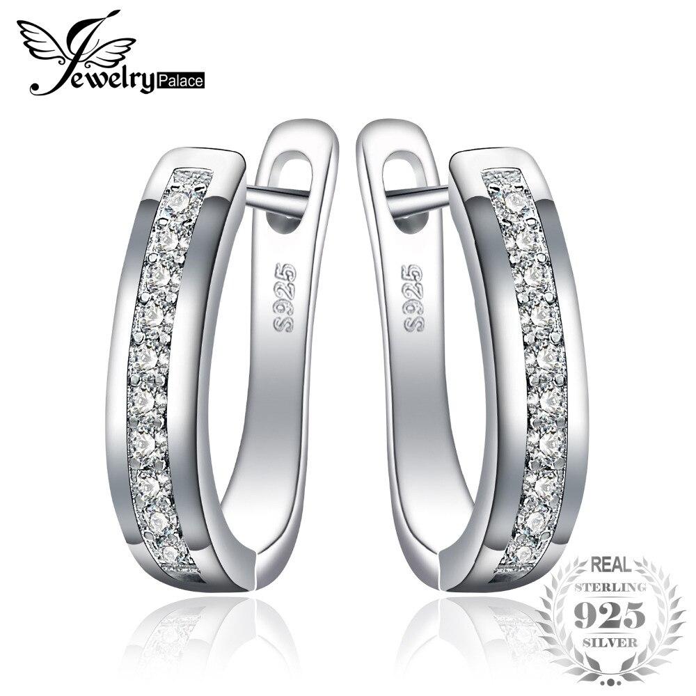 Sterling Silver Earrings Anniversary Channel Eternity Earrings New Fine Jewelry Gift For Girlfriend 2018 Hot