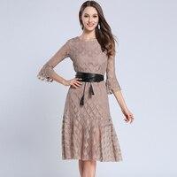 Spring Women Dress Slim Tail Dresses Brown Black With Alt Qi Color Code 3275