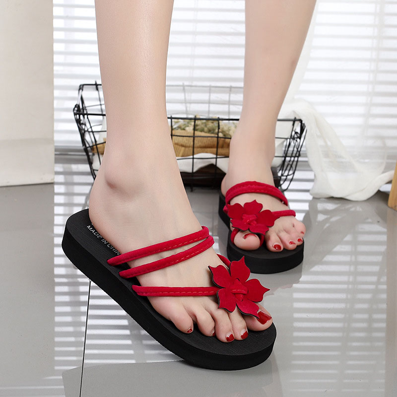 88da3297720 Women Summer Beach Non-slip Platform Flip Flops High Heel Wedges Outdoor Shoes  Woman Platform Slippers Sandals zapatos de mujer - aliexpress.com -  imall.com
