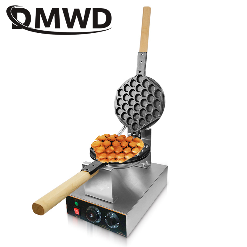 DMWD 110V/220V Electric Chinese Egg Bubble Waffle Maker Eggettes Puff Cake Iron HongKong Egg Muffin Machine Oven Non-stick Plate