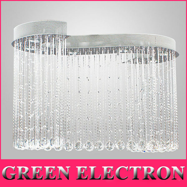 Modern Minimalist Personalized Restaurant LED Crystal Lamp Parlor Lamp Hall Hotel Crystal Light Crystal Ceiling Lights
