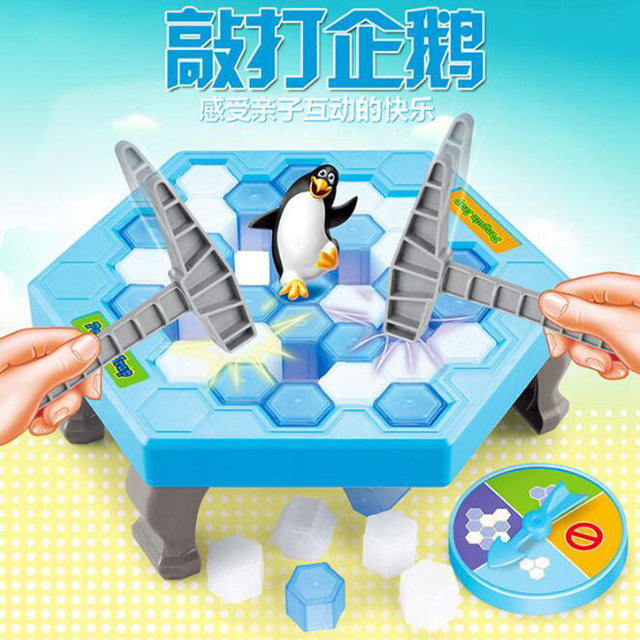 Ice Breaking Save The Penguin Great Family Fun Game - The One Who Make The Penguin Fall Off  The Penguin Fall Off Will Lose Game