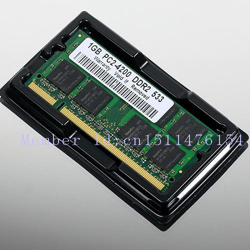 NEW 1GB PC2-4200 DDR2-533 533Mhz 200pin DIMM Laptop Memory pc4200 533MHZ DDR2 Low Density RAM Free shipping 100x2gb pc2 4200 ddr2 533 533mhz ddr2 laptop memory sodimm notebook ram non ecc 200pins unbuffered low density