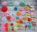 Baby Shower Headband Station Kit,DIY Headband Making Kit,First Birthday Party Headband Kit,Hair Bow Kit ,pink,orange,mint,A41