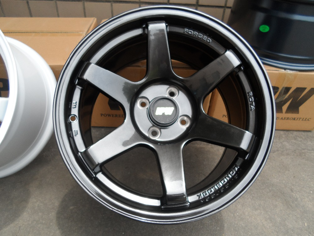 16x8.25 et28 4x100 Hyper Black alloy wheel rims W500