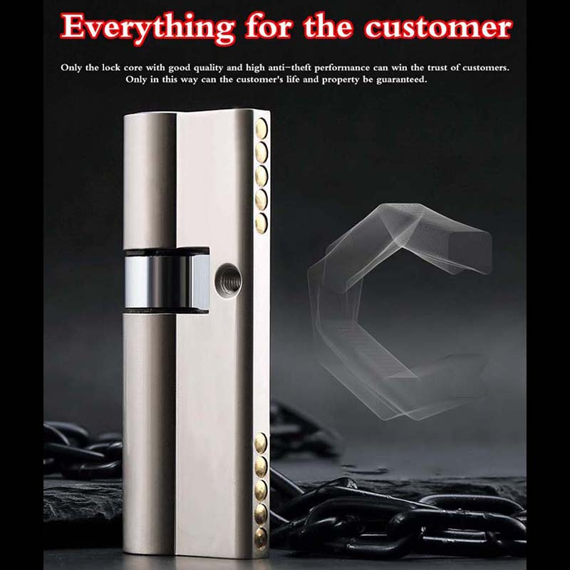 C Grade Cylinder Anti theft Door Lock Core Universal Copper Chrome Plated Customize Cylinders European and
