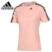 Nova chegada original adidas d2m t 3 s camisetas femininas de manga curta roupas esportivas